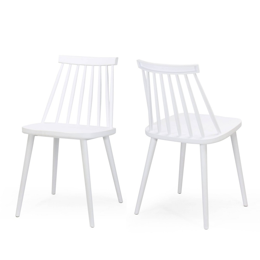 Set of 2 Dunsmuir Farmhouse Spindle-Back Dining Chair White - Christopher Knight Home was $159.99 now $103.99 (35.0% off)