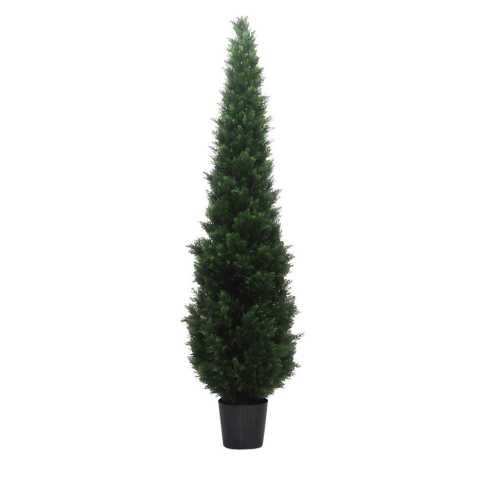 Image of Artificial Cedar Tree In Pot (UV) (8ft) Green - Vickerman