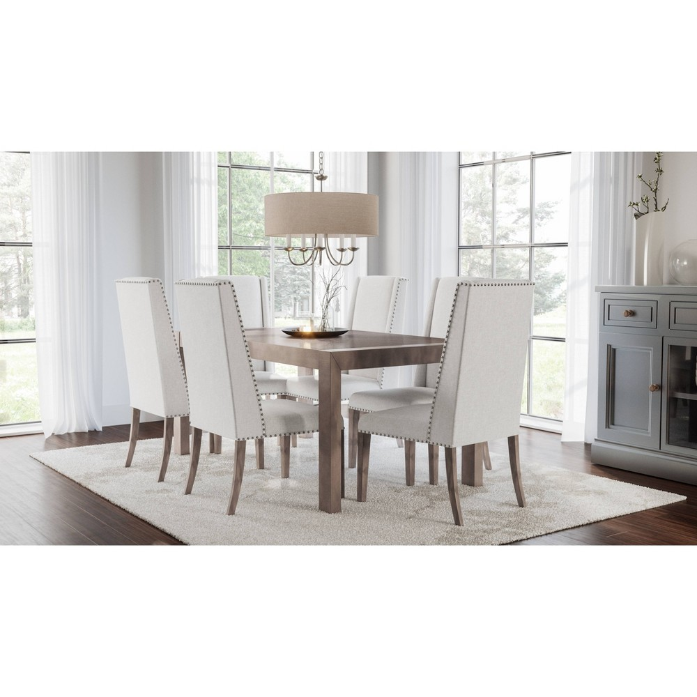 Image of 7pc Marjorie Acacia Dining Set Natural - Abbyson Living