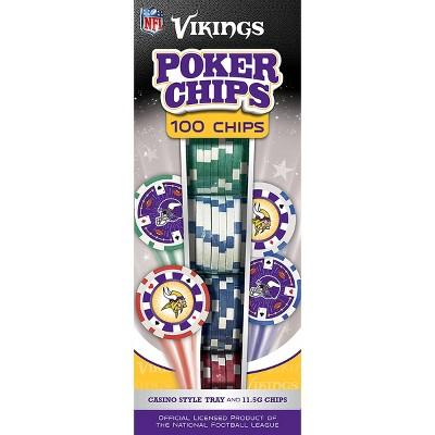 NFL Minnesota Vikings 100ct Poker Chip