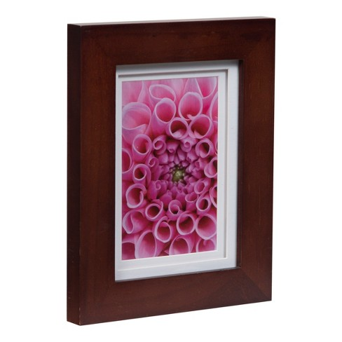 Single Image 5x7 Wide Walnut Frame With Double Mat To 4x6 Gallery