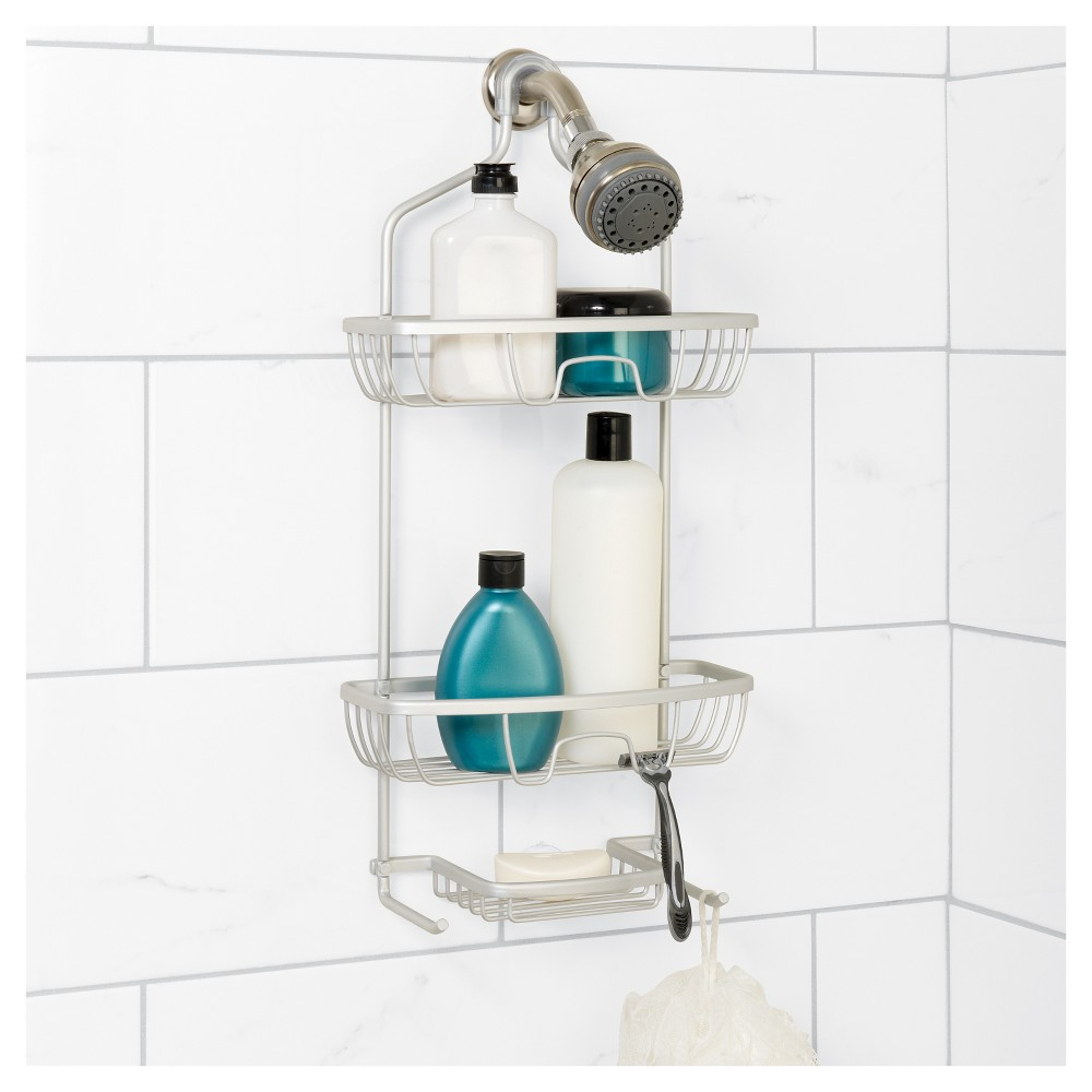 NeverRust Aluminum Shower Caddy Large Zenna Home, Satin