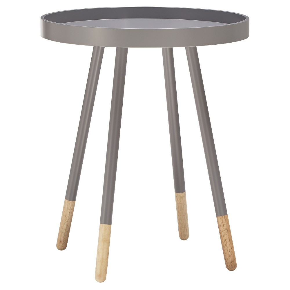 Image of Olcott Mid Century Tray Top Accent Table - Gray - Inspire Q