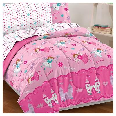 Dream Factory Magical Princess Mini Bed In A Bag   Pink (Twin) : Target