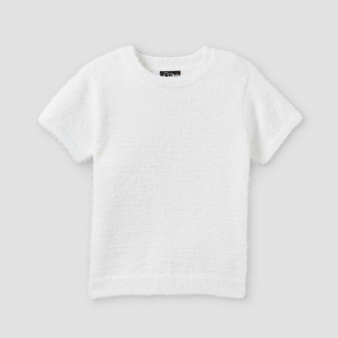 Girls' Fuzzy Short Sleeve Sweater - art class™ - image 1 of 2