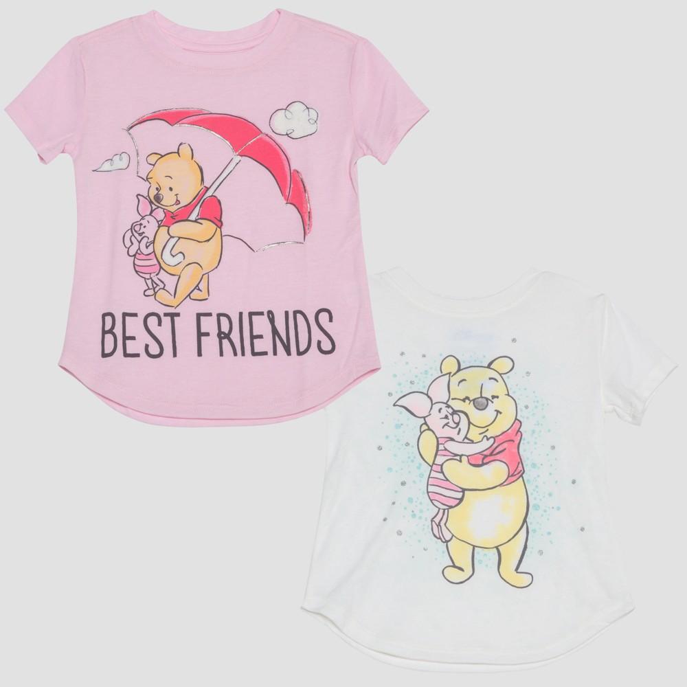 Toddler Girls' Winnie the Pooh Short Sleeve T-Shirt - Ivory 18 M, Size: 18M, White