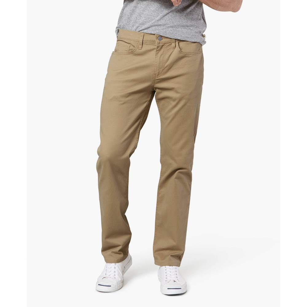 Dockers Men 39 S Straight Fit All Seasons Tech 5 Pocket Pants British Khaki 36x29