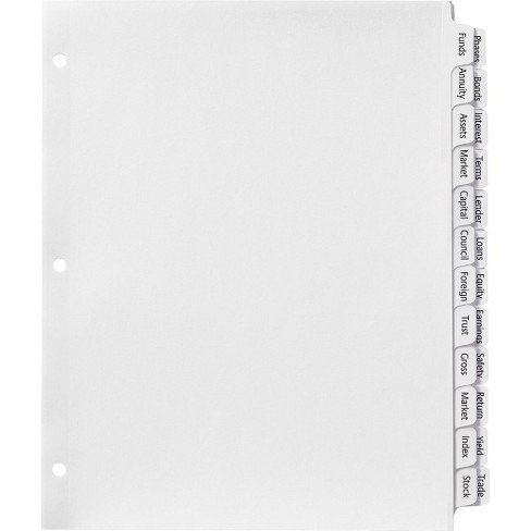 Avery Index Maker Print & Apply Clear Label Double Column Dividers - 24 /  Set - White Divider