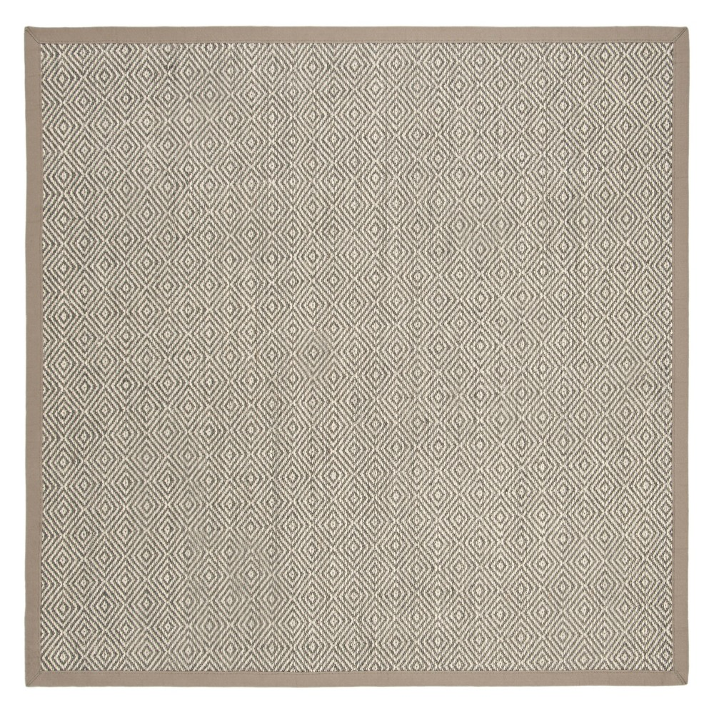 6'X6' Geometric Loomed Square Area Rug Natural/Taupe (Natural/Brown) - Safavieh
