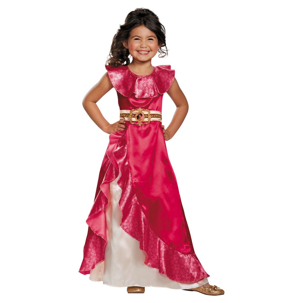 Image of Halloween Toddler Girls' Disney Elena Adventure Dress Costume 3T/4T, Girl's, Size: 3T-4T, Pink