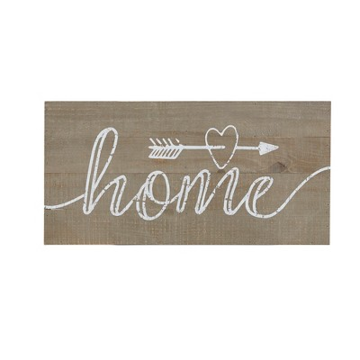 24 X12  Rustic Home Print On Real Wood Plank Wall Sign Panels Natural