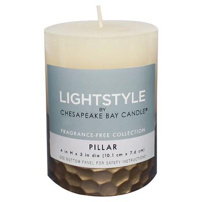 Fragrance Free Cream/Gold Hammered - 3 x4  - Chesapeake Bay Candle