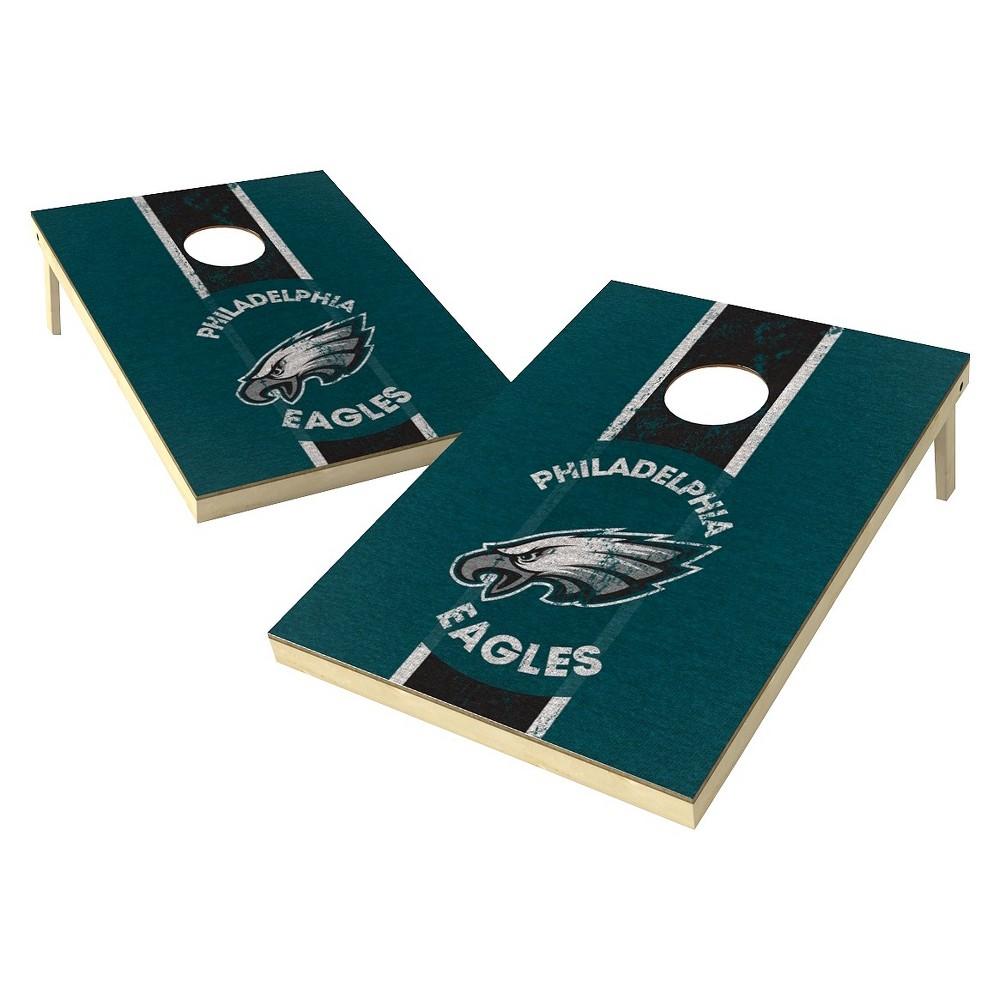 Philadelphia Eagles Wild Sports Heritage Shield Cornhole Bag Toss Set - 2x3 ft.
