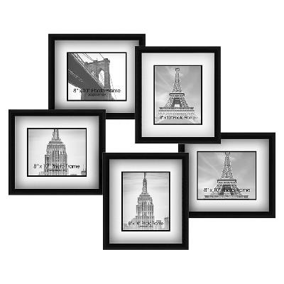 "31"" x 29"" Bridge Multiple picture frame Black - PTM Images"