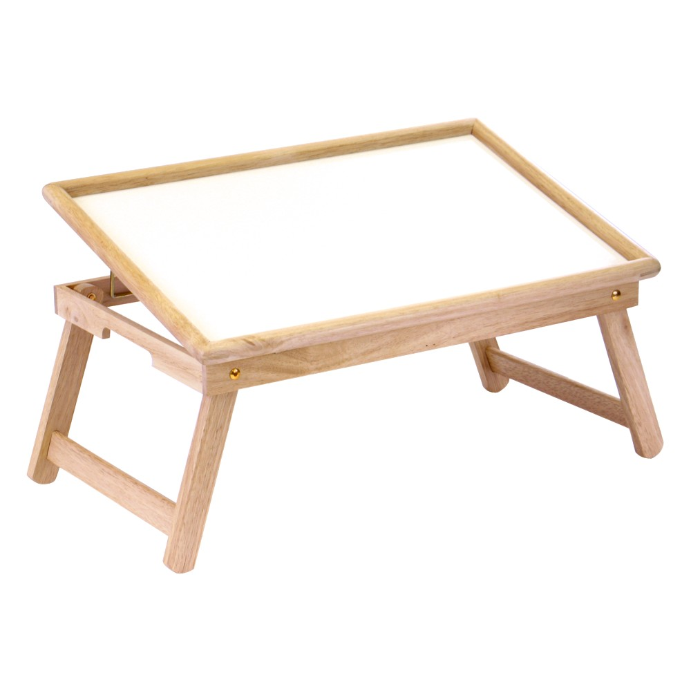 Breakfast Tray with Flip Top, Natural/White