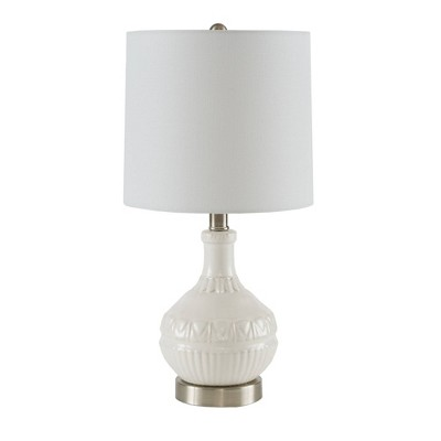 """20.5"""" Gypsy Table Lamp (Includes LED Light Bulb)White"""