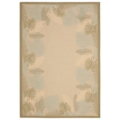 Julius Indoor/Outdoor Rug - Cream / Green - Safavieh® - image 1 of 1