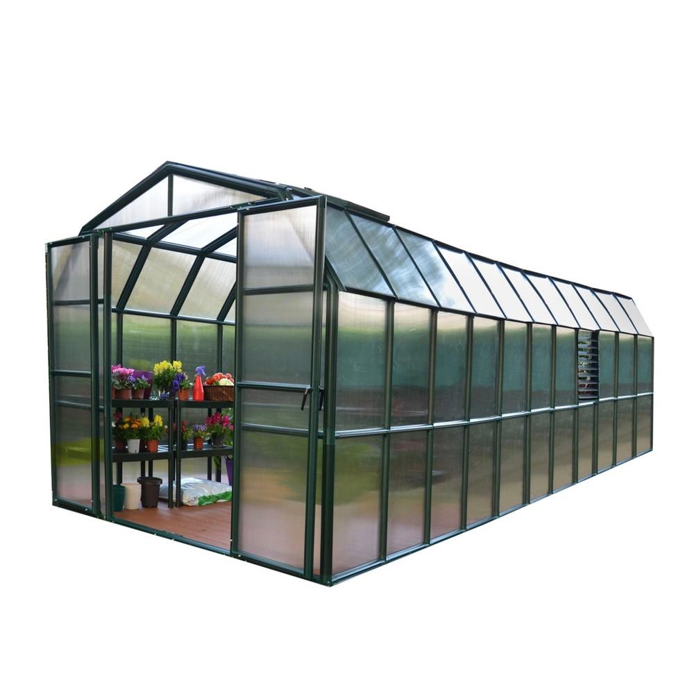 8'X20' Prestige 2 Twin Wall Greenhouse - Green - Palram