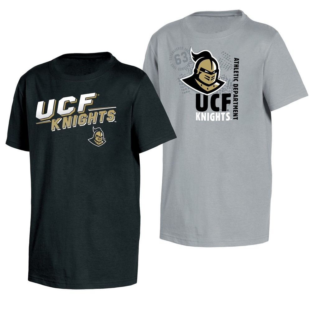 Ucf Knights Double Trouble Toddler Short Sleeve 2pk T-Shirts 2T, Toddler Boy's, Multicolored