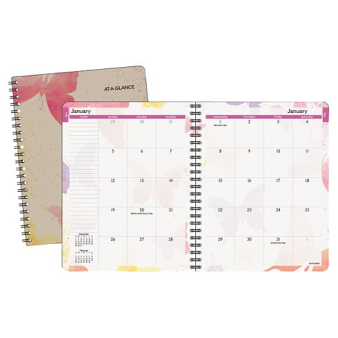 At A Glance Watercolors Monthly Planner 6 7 8 Target