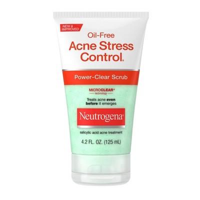 Neutrogena Oil Free Acne Stress Control Power Clear Scrub 4 2 Fl