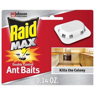 Raid Max Double Control Ant Baits - 4ct