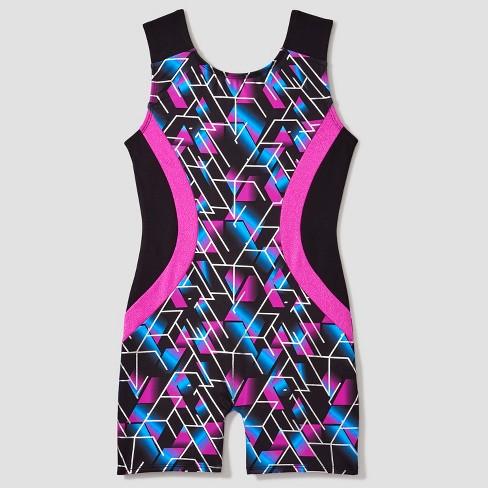 1519d7391af5 Freestyle® By Danskin® Girls  Activewear Biketard - Magenta Black ...