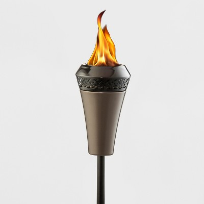TIKI Island King Large Flame Torch - Brown