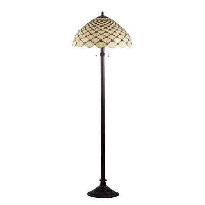 62  Lee Tiffany Style LED Floor Lamp Bronze (Includes Energy Efficient Light Bulb)- JONATHAN Y