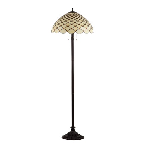 """62"""" Lee Tiffany Style LED Floor Lamp Bronze (Includes Energy Efficient Light Bulb) - JONATHAN Y - image 1 of 4"""