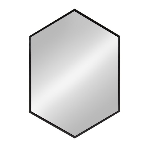 Kate and Laurel Mcneer Large Hexagon Metal Wall Mirror - image 1 of 4