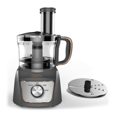 CRUX 8-Cup Food Processor - Gray