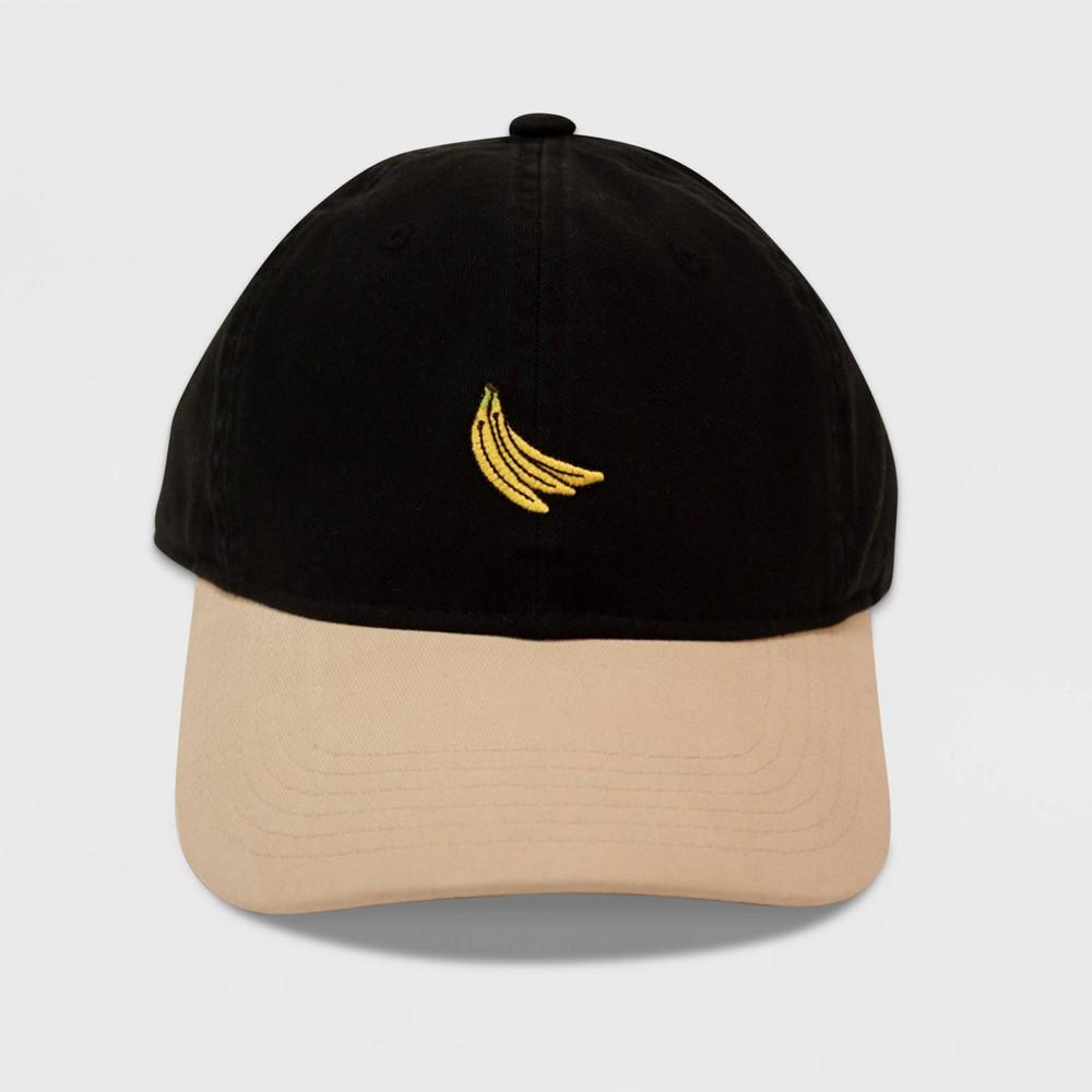 Image of Men's Banana Icon Dad Baseball Hat - Black One Size, Adult Unisex