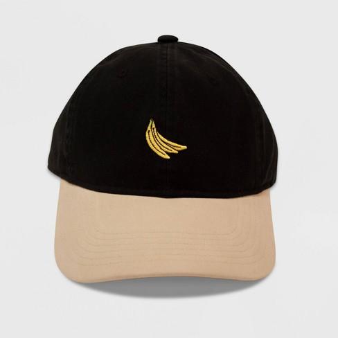 Men's Banana Icon Dad Baseball Hat - Black One Size - image 1 of 1