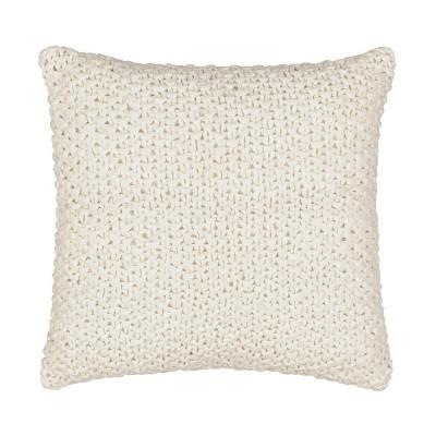 "Waverly Kensington Bloom 16""x16"" Throw Pillow Cream"