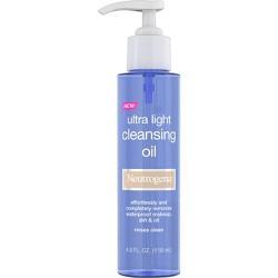 Neutrogena Ultra Light Face Cleansing Oil & Makeup Remover - 4 fl oz