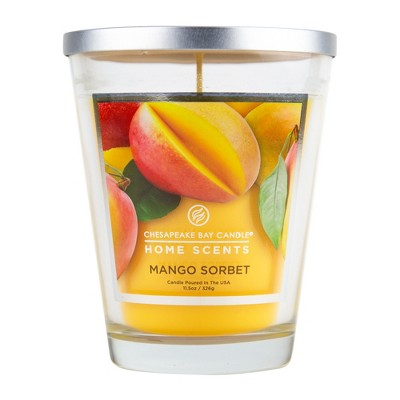 11.5oz Lidded Glass Jar Candle Mango Sorbet - Home Scents By Chesapeake Bay Candle