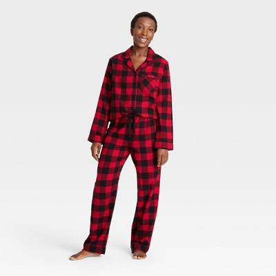 Women's Holiday Buffalo Check Plaid Flannel Matching Family Pajama Set - Wondershop™ Red