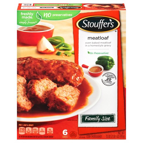 Stouffer's Frozen Meatloaf in Gravy - 33oz - image 1 of 6