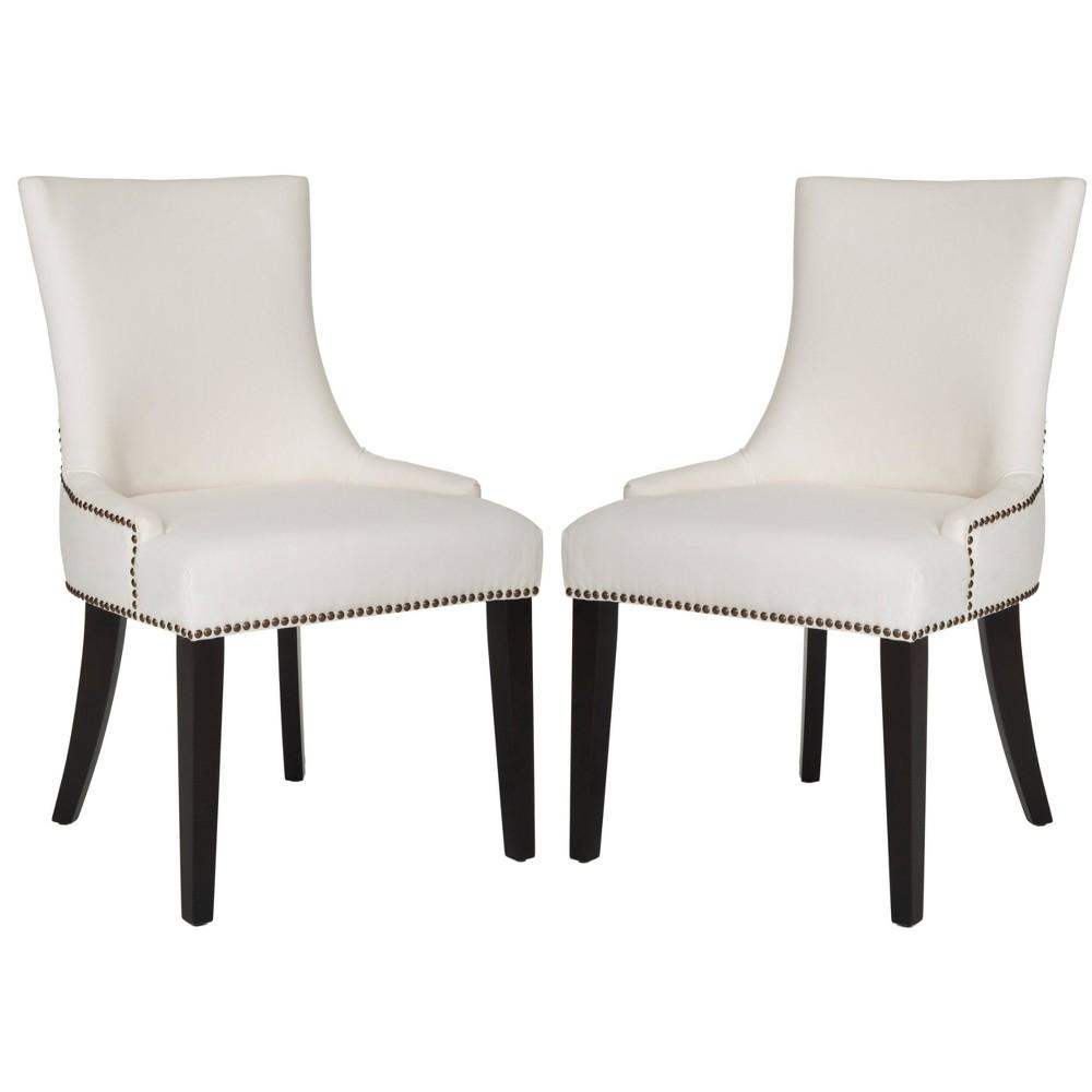 Lester Dining Chair - White (Set of 2) - Safavieh