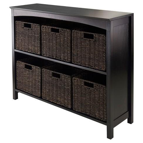 terrace 7 piece set storage shelf with baskets target. Black Bedroom Furniture Sets. Home Design Ideas