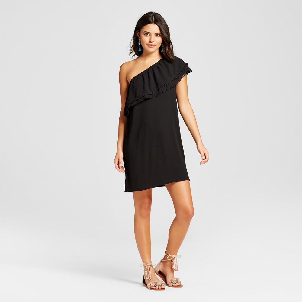 Women's One-Shoulder Shift Dress - Xhilaration (Juniors') Black Xxl