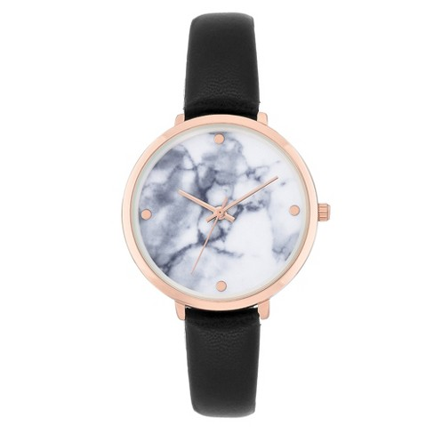Women s Marble Dial Watch - A New Day™ Rose Gold   Target cb8105525