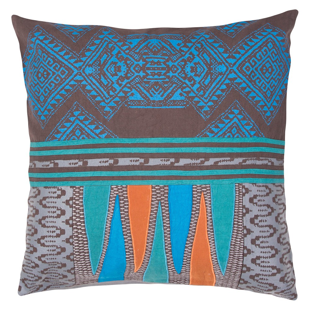 Image of Blue Traditions Made Modern Throw Pillow - Jaipur