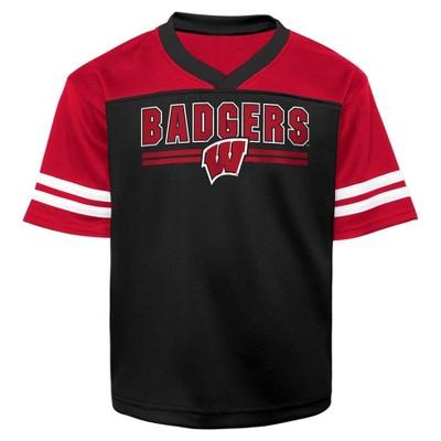 NCAA Wisconsin Badgers Toddler Boys' Short Sleeve Jersey