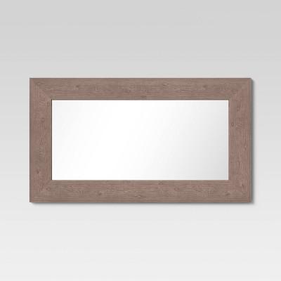 "20"" x 36"" Wide Wood Wall Mirror Brown - Threshold™"