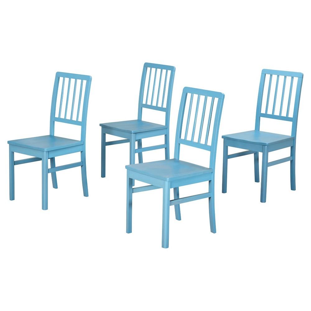 Camden Wood Slatback Dining Chair - Blue (Set of 4)