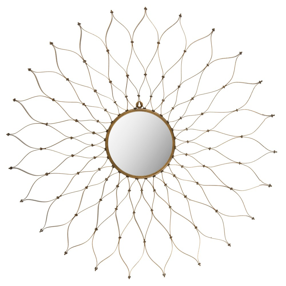 SunburstOnile Decorative Wall Mirror - Safavieh, Gold