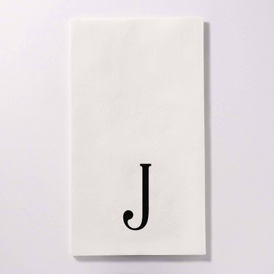 """50ct 4.25""""x8"""" Personalized Lettering Bella Guest Napkins"""