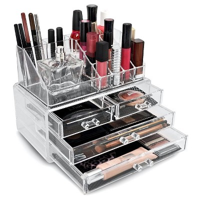 Sorbus Stackable Makeup Storage Set - Style 5